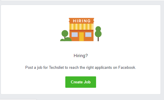 Facebook Added a Feature to Post Jobs